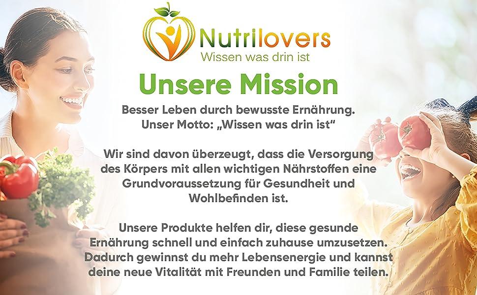 Nutrilovers Slow Juicer Obst und Gemüse Mission