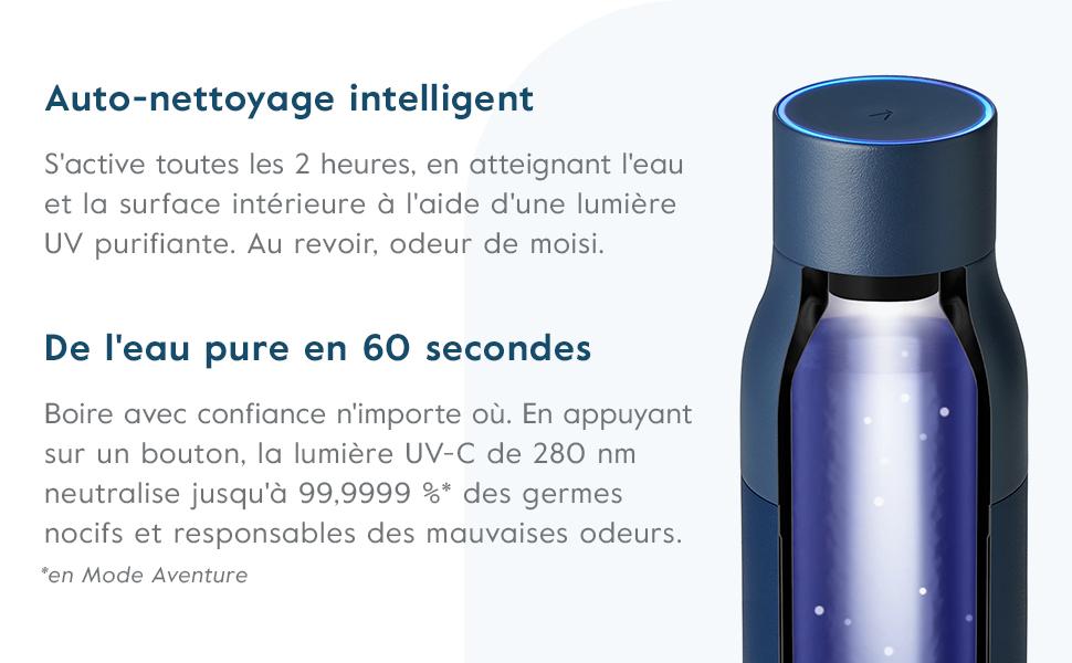 Bouteille deau autonettoyante et syst/ème de Purification de leau LARQ Bottle