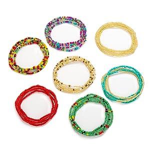 7 pcs waist beads