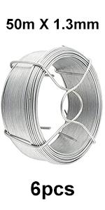 rotolo matassina bobina 27 mt di filo ferro acciaio zincato Ø 0,9 mm legatura