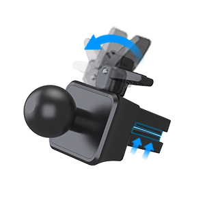 Car mounts have 2-level adjusatable air vent grip can be set to fit different types of air vent