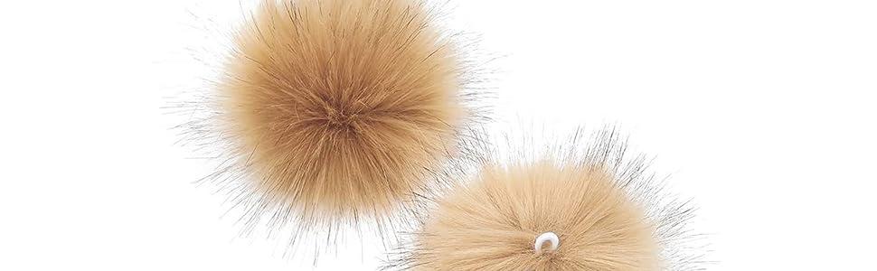 Alvinm Kunstfell Bommel Pompon f/ür M/ützen und Beanies,Kunstpelz Pom Pom Ball Kunstfellbommel f/ür Stricken H/üte Zubeh/ör,Winter Fellbommel,DIY Pompon Kunstfell Faux