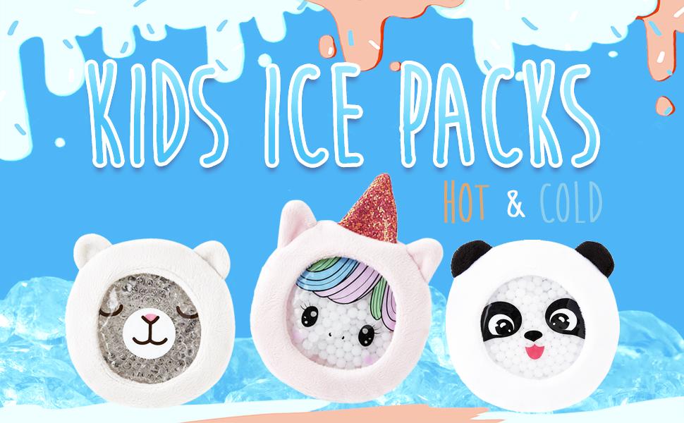 kids ice packs hot/cold packs for children boo boo ice packs for kids boo boo children ice packs