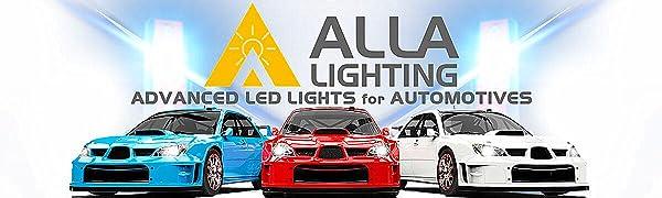 Alla Lighting Super Bright T25 3157 3457 3156 4157 LED Amber Yellow Signal Light Bulb