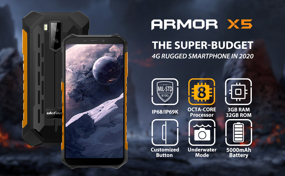 ulefone armor x5 rugged phones