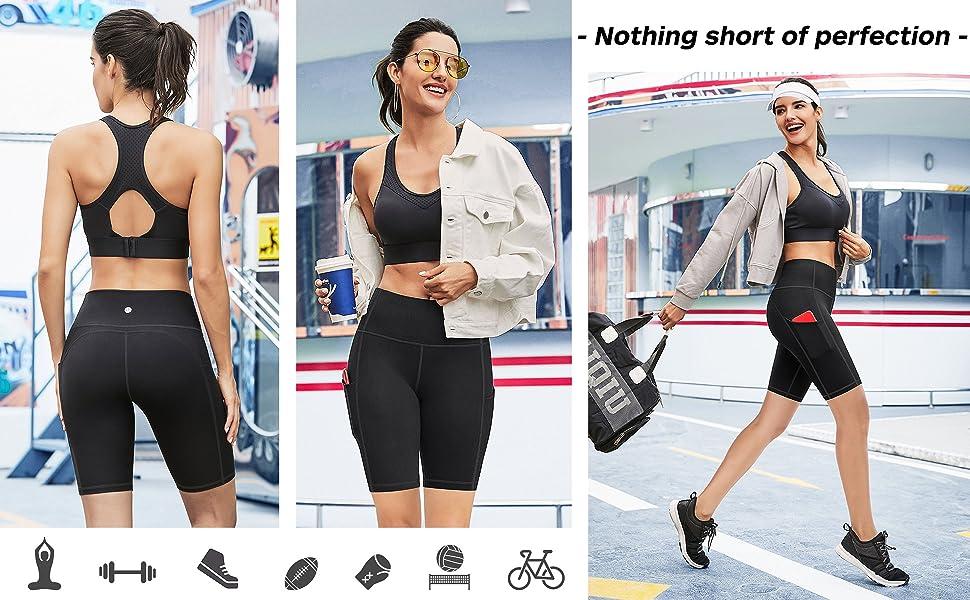 high waisted running shorts for women