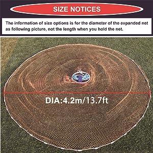 Dia size: 4.2m/13.7ft