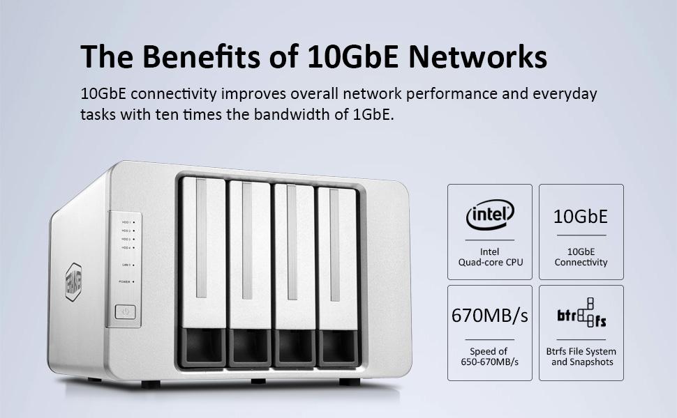 network attached storage 10gbe nas server plex media transcode cloud data synchronization 5 bay sync