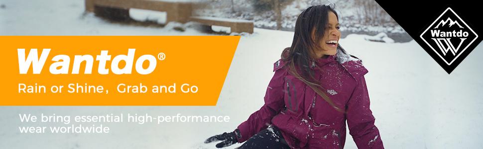 Wantdo Women's 3 in 1 Waterproof Ski Jacket