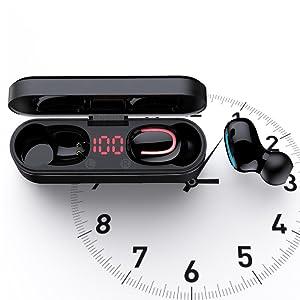 25h playtime led display led digital display  4 mics noise canceling  hifi stereo 10mm drivers