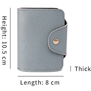 Full Leather Card Cases for Women 11 Card Position 10 Colors Small Women's Wallet