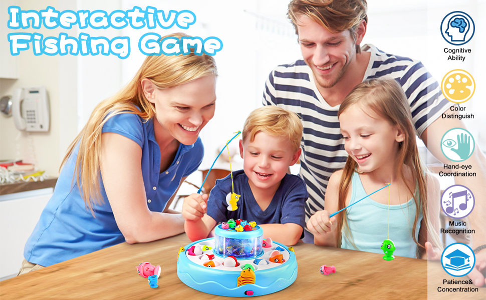 Interactive Fishing Game Toy