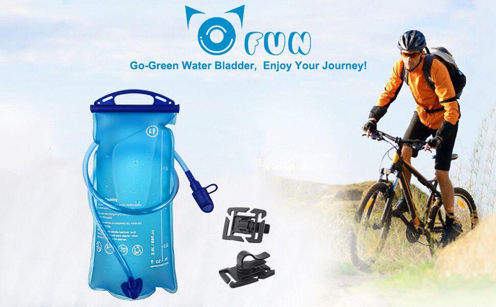 Bolsa De Agua para Mochila Hidratación 2L, OFUN Tubo Desmontable ...