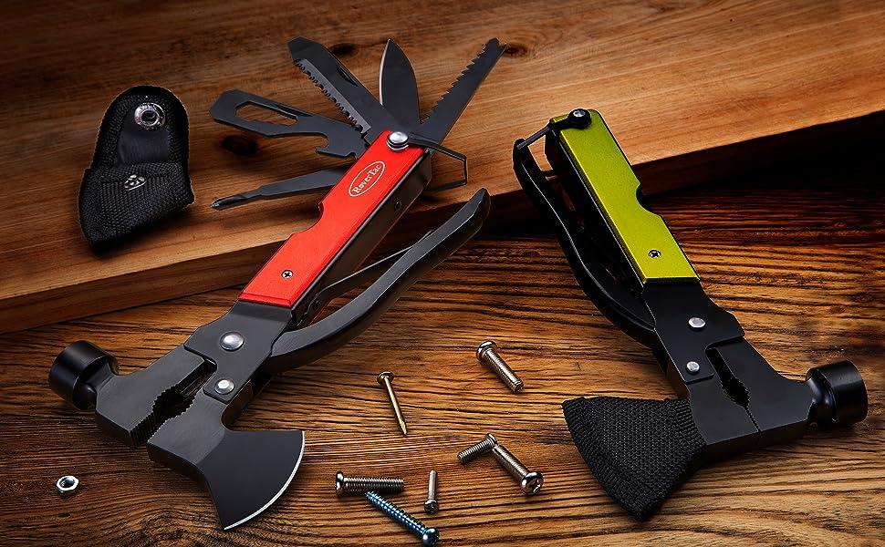 5 Stücke Stahl Outdoor Survival Tool EDC mehrzweckwerkzeuge Knotting 3 Loch A3T2