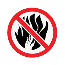 Keep away from fire sources