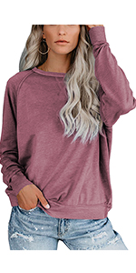 Women Batwing Sleeve Pullover Tops