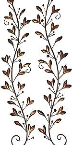 Tree of Life Metal Wall Art Scroll Leaf Wall Decor