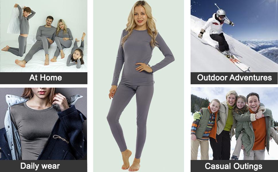 fleece lined thermal set women