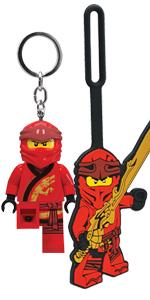 LEGO Ninjago Legacy Kai Luggage Bag Tag Key Light Duo