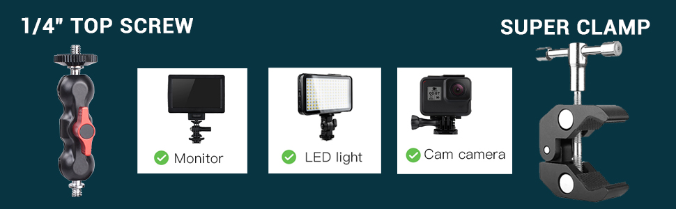 for monitor led light action camera microphone camera cage