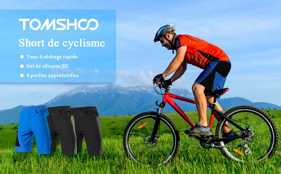 MEETYOO Short de cyclisme pour homme rembourr/é 4D respirant /à s/échage rapide