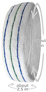 COUVER Premium Quality Tennis Style Headband(LARGE,LONG,THICK)[Model #: HBS910]