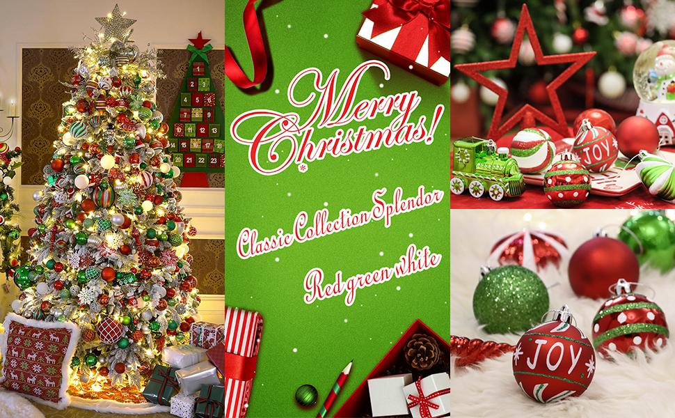 Christmas Ball Ornaments Decoration