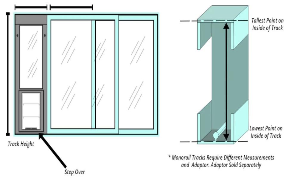Measuring for an Endura Horizontal Window Pet Door
