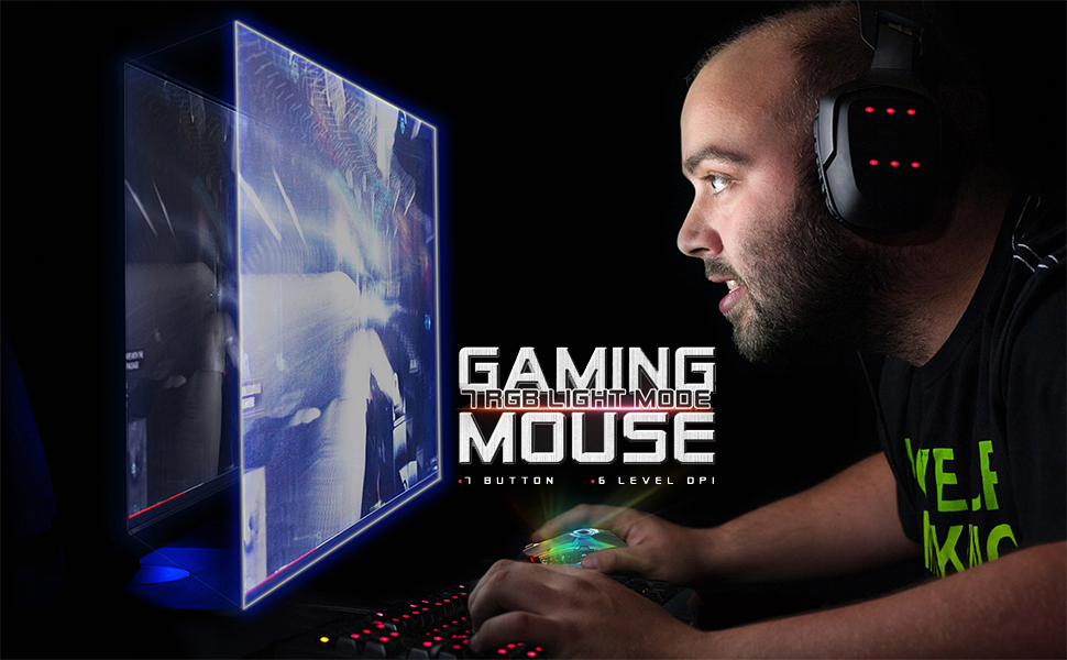 RGB Gaming Mouse Wired Programmable