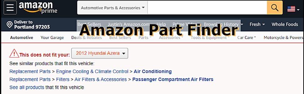 Amazon Part Finder