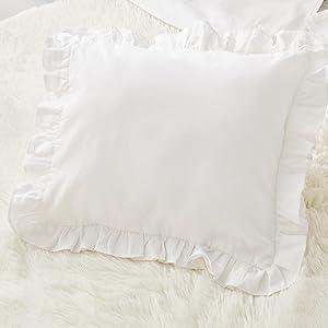 pillow cases white cotton shams
