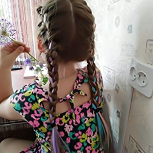kid colored hair extensions