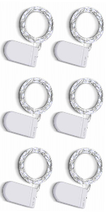6 pack fairy string lights battery operated cool white