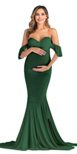 ruffle sleeve gown