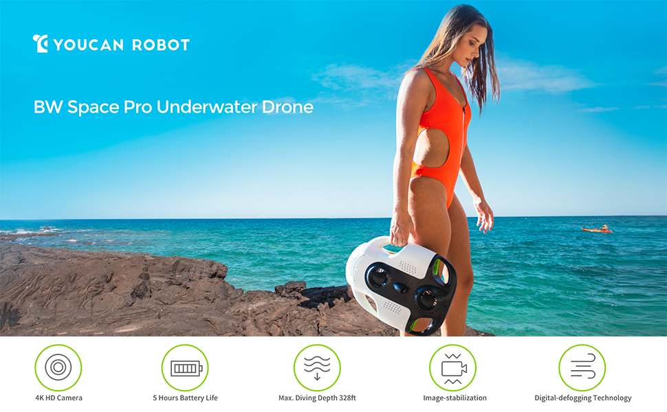 BW Space Pro 4K Zoom Underwater Drone