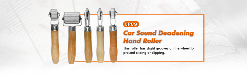 Vankcp 5Pcs Car Sound Deadening Hand Roller Sound Noise Insulation Tool for Auto Noise Roller Car Sound Deadener Application Installation Tool Rolling Wheel Interior Accessories