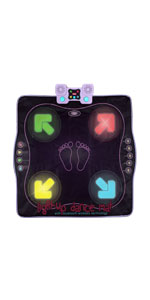 Kidzlane light up dance mat for kids arcade style music toy for active kids interactive game