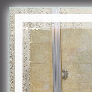 heated illuminated bathroom mirror with defogger
