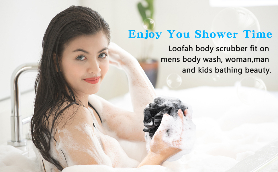 Shower Bath Sponge Shower Loofahs Balls sponge for shower