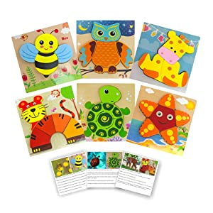 puzzles with animal fact cards