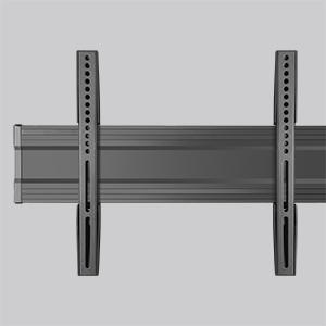 Doppio telaio TV in alluminio resistente con supporto universale VESA