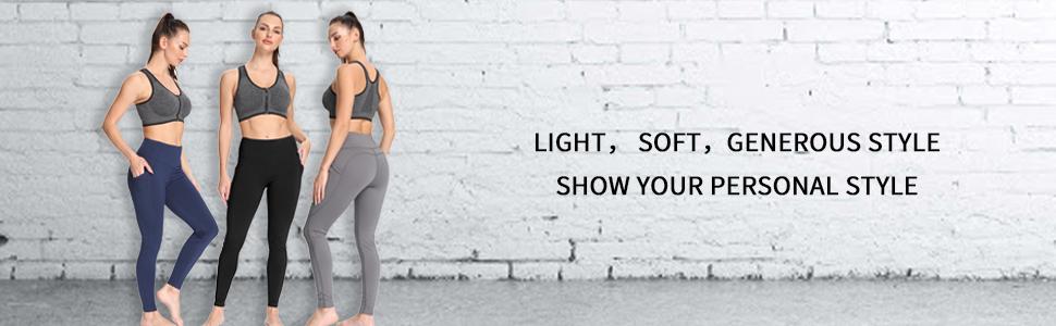 heat fleece yoga pants high waist tummy control winter thermal leggings pockets active wear