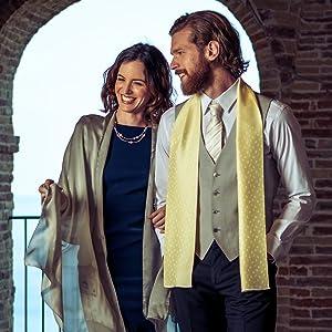 mens silk formal evening scarf