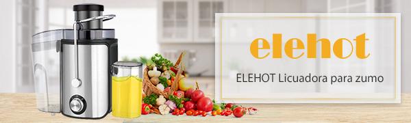 Licuadoras Para Frutas y Verduras Extractor de Zumos 600W Con Dos ...