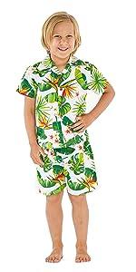 Hawaii Hangover Girl's Butterfly Dress Hawaiian Matching Patterns Sets