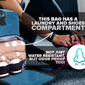 duffle with shoe compartment