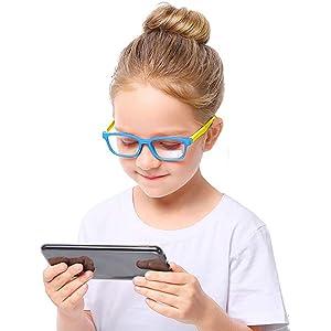 blue light glasses kids girls clear