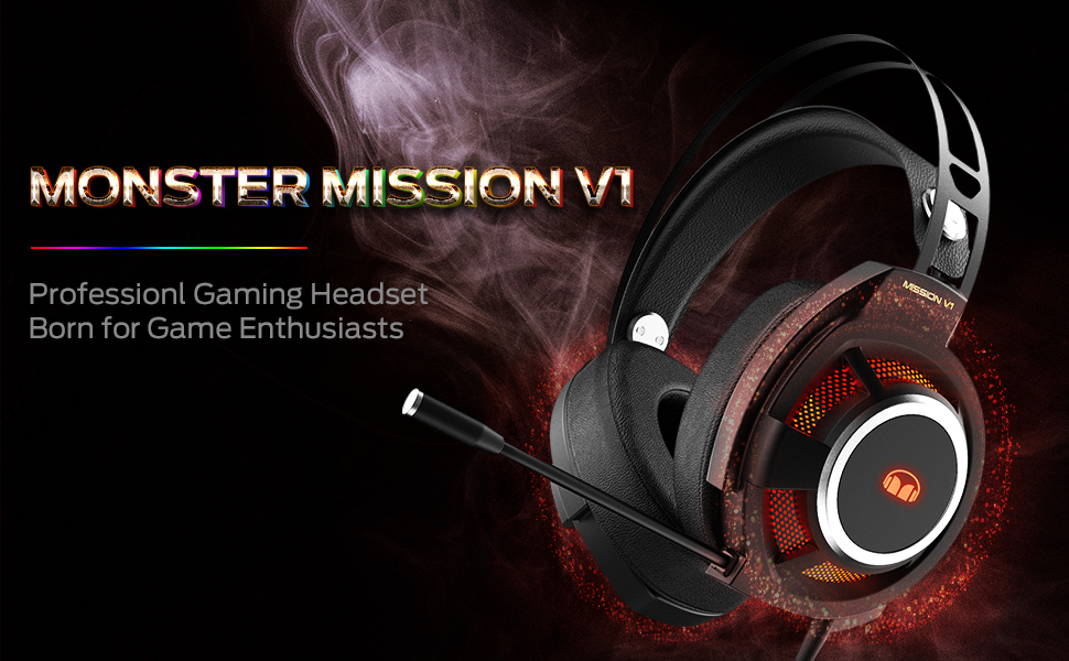 Monster Mission V1,professionl gaming headphone,born for game enthusiasts