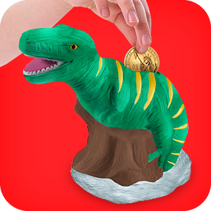 Amazon Com Original Stationery Paint Your Own Dinosaur Money Bank Craft Kit Toddler Painting Set Dinosaur Gifts For Boys Home Kitchen
