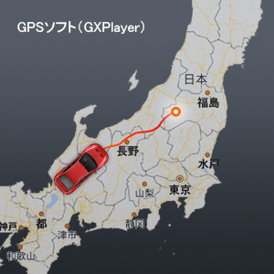 高精度GPSモジュール-運転速度、経緯度、走行軌跡を確認: